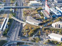 Roads near Business Center district in Moscow royalty free stock photography