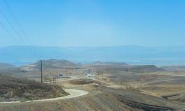 Roads in the negev desert stock images