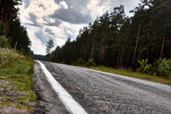 Roads. Northern roads of Russia, Kareliya Stock Images