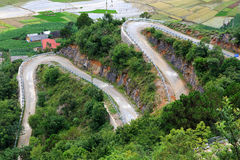 Roads in northern Vietnam Stock Images