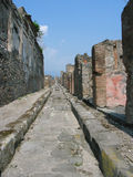 Roads of Pompei. An antique roman road shot at Pompei, Italy Stock Photo