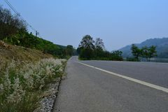 Roads in the provinces of Thailand Royalty Free Stock Photo