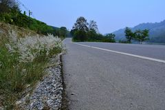 Roads in the provinces of Thailand Stock Image
