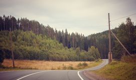 Russian roads stock photography