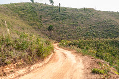Roads in rural areas of developing countries Royalty Free Stock Photography
