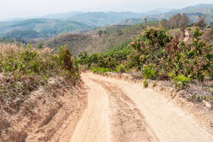 Roads in rural areas of developing countries Stock Photography