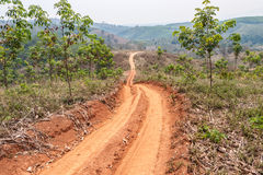 Roads in rural areas of developing countries Royalty Free Stock Images