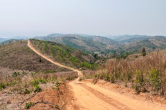 Roads in rural areas of developing countries Royalty Free Stock Photos