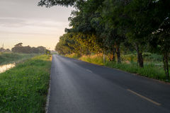 Roads, rural canal Royalty Free Stock Image