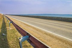 Roads in Russia is not so bad Royalty Free Stock Photography