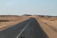 Roads through the Sahara in Sudan Stock Image