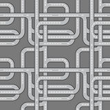 Roads. Seamless  pattern background. Royalty Free Stock Images