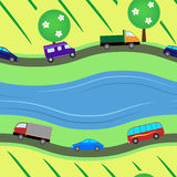 Roads seamless texture Royalty Free Stock Photos