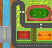 Roads and sports facilities Royalty Free Stock Images