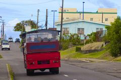 Roads in St Kitts, Caribbean Stock Photography