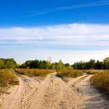 Roads in steppe Royalty Free Stock Photography