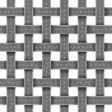 Roads And Street Pattern. With a group of organized highways in a grid pattern as a transportation and business management crossroad concept isolated on white Royalty Free Stock Photos