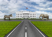 Roads to the White House Royalty Free Stock Image