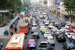 Roads with traffic jams in Bangkok. Stock Image