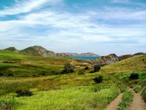 Roads and trails in the hills Royalty Free Stock Photography
