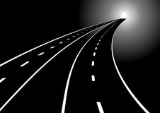 Roads and tunnels Royalty Free Stock Images