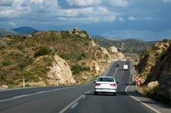 Roads in Turkey. Roads to go to the coastline of Turkey.Blured motion Stock Image