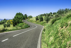 Roads in Tuscany Royalty Free Stock Photos