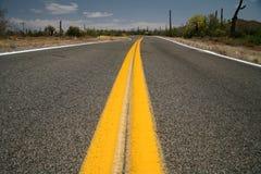 Roads in the USA. Desert, Utah Royalty Free Stock Photography