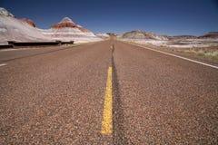 Roads in USA - through desert Stock Photography