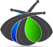 Roads. A vector drawing represents roads design Royalty Free Stock Image