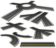 Roads. Vector illustration of different perspective roads Royalty Free Stock Photography