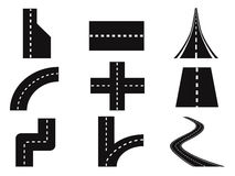 Roads vector set Stock Photos