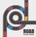 Roads and ways design. Illustration eps10 graphic stock illustration