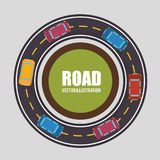 Roads and ways design. Illustration eps10 graphic royalty free illustration