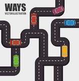 Roads and ways design. Illustration eps10 graphic vector illustration