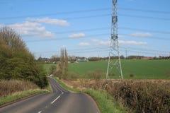 Roadscape e vicolo lungo Treeton del paesaggio Fotografie Stock Libere da Diritti