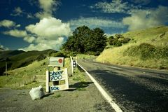 Roadside advertising Royalty Free Stock Photo