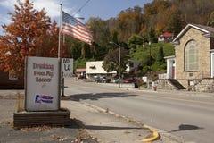 A roadside Appalachia. A road through an Appalachian Town. Appalachia royalty free stock image