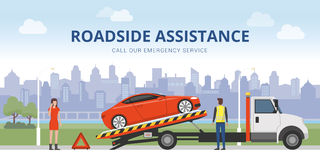 Roadside assistance Royalty Free Stock Photo