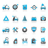 Roadside Assistance and tow  icons Royalty Free Stock Photo