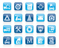 Roadside Assistance and tow  icons Stock Image