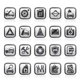 Roadside Assistance and tow  icons Stock Photography