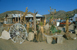 Roadside attraction cactus garden, 29 Palms, CA Stock Images