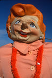 Roadside attraction of caricature of Margaret Thatcher, Nova Scotia Royalty Free Stock Image