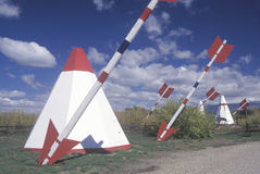 Roadside attraction of teepees Royalty Free Stock Photography
