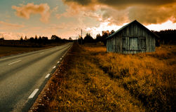 Roadside barn Stock Photography
