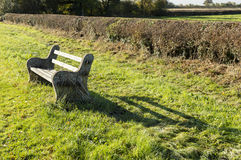Roadside bench Royalty Free Stock Photo
