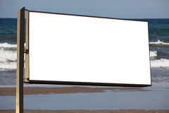 Roadside billboard at sea Royalty Free Stock Photo