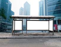 Roadside bus stop billboards Royalty Free Stock Photos