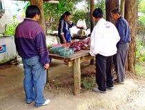 Roadside butcher'shop. Royalty Free Stock Photos